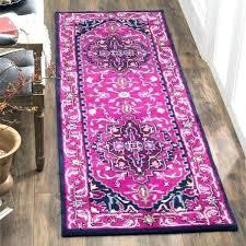Bohemian Runner Rug Pink Main Image Of Wool Rugs