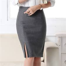 <b>2019 New</b> Fashion Women Office Formal Pencil Skirt Spring ...