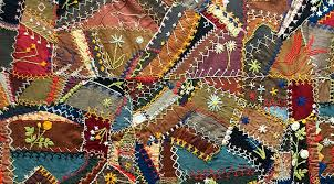 Why Quilts Matter: History, Art & Politics - Wonderful Wools - by ... & Wool Crazy Quilt (detail), c. 1900, unknown maker, Eastern United Adamdwight.com