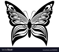 Silhouette Art Designs Butterfly Black White Silhouette Design