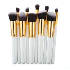 10pcs make up professional soft cosmetics brushes eyebrow shadow face makeup powder brush set tools kit