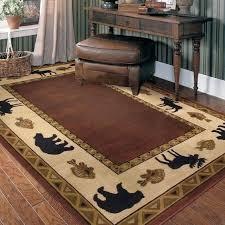 lake cabin rugs outstanding rustic mountain and decor log style house bathroom fresh lakeside deer rug cabin area rugs