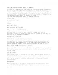Cover Letter For Resume Of Chartered Accountant Fishingstudio Com