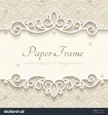 Paper Picture Frame Templates Vintage Vector Background Paper Border Decoration Stock Vector