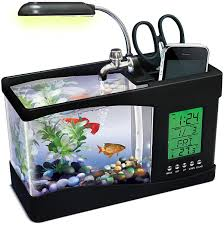 office desk fish tank. Need Something To Amuse You In That Drab Cubicle Inhabit The Office?  Try USB Fishquarium, A Multi-function Desk Gadget With Built-in Fish Tank Office I