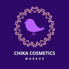 chika beauty makeup logo template