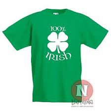 Irish Top 100 Charts Details About 100 Percent Irish Kids T Shirt Celtic Shamrock 4 Leaf Clover Children Ireland