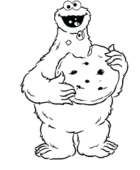 Cookie Monster Coloring Free Monster Coloring Pages Cookie Monster
