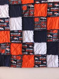 This fun and sporty rag quilt can be customized to fit most ... & This fun and sporty rag quilt can be customized to fit most college, NFL, Adamdwight.com