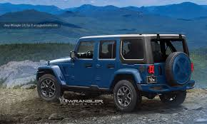 2018 jeep wrangler images.  2018 2018 jeep wrangler unlimited blue back glass opened rendering in jeep wrangler images