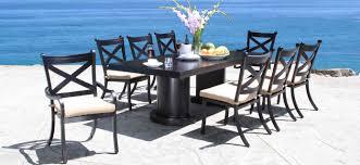 cast aluminum patio furniture milano luxury patio dining set