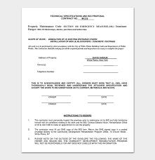 Contractor Proposal Template Proposal Contract Template 20 Forms In Word Pdf
