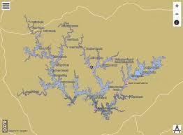 Smith Lake Depth Chart Lewis Smith Lake Fishing Map Us_ub_al_00159929