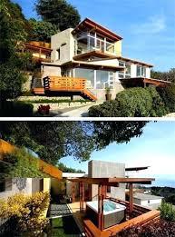 modern hillside house plans attractive best steep hillside home plans steep hillside house plans hillside home