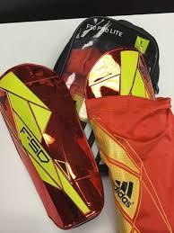 Adidas F50 Pro Lite Shin Guard Size Chart New Adidas F50 Pro Lite Soccer Shin Guards Red Yellow Size Large Nwt