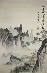 greeting cards painting imitation chinese ancient painting by jason zhang