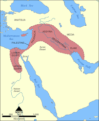 map of the fertile crescent (illustration)  ancient history