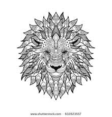 Small Picture Tribal Lion Stock Images Royalty Free Images Vectors Shutterstock