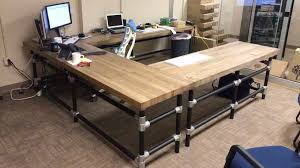 wrap around office desk. diy wrap around desk frame office