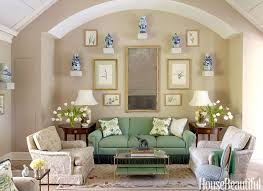 Living Room Ideas : Home Decorating Ideas For Living Room Magnificent  Midcentury Style Ceramic Vases Ornamental Cream Green Fabric Sofa Rug  Potted Plants ...
