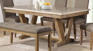 wooden dining furniture. Wood Dining Tables. Homelegance Jemez Table - Faux Marble Top Weathered Tables Wooden Furniture H