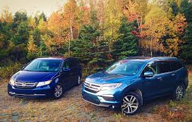 Comparison Test: 2016 Honda Pilot Touring vs. 2015 Honda Odyssey ...