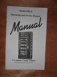 Antares Vending Machine Owners Manual