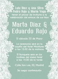 formato de invitaciones de boda invitaciones de boda y texto para invitaciones de boda la belle blog