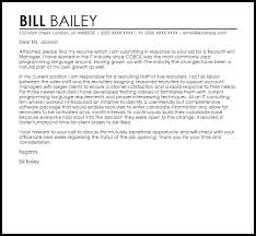 Recruitment Manager Cover Letter Sample Cover Letter