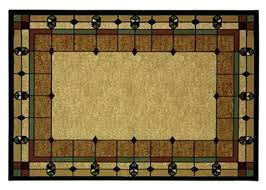 art area rug stained glass design arts and crafts mission style deco rugs inspired