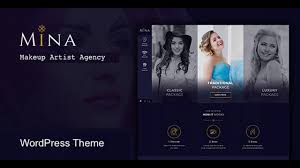 mina salon makeup wordpress theme themeforest templates and themes