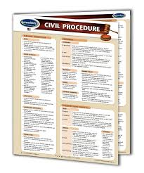 Civil Procedure Rules Chart Civil Procedure Quick Reference Guide 4 Page Laminated Legal Chart Usa Law