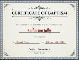 Certificado De Bautismo Template Plantilla De Iglesia Certificado De Bautismo Postermywall
