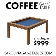 coffee game table great for puzzles