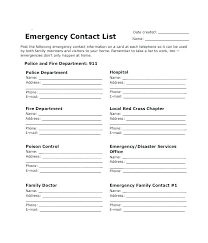 Family Contact List Template Family Reunion Program Template Free Printable Phone Tree Template