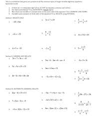 10 multi step equations answers math cover worksheetscom solving multi step equations worksheet example