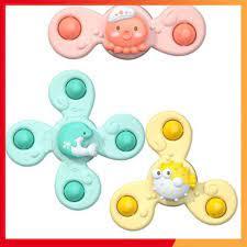 Con quay đồ chơi Fidget Spinner thiết kế hình động vật hoạt hình có giác  hút đọc đáo dành cho các bé từ 6 tháng tuổi lên chính hãng 75,000đ