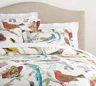 Fauna Bird Print Organic Duvet Cover & Sham
