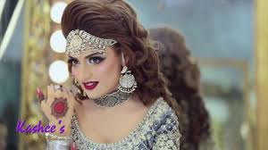 attractive bridal makeup hair styling by kashees