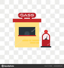 Gas Station Logo Gas Station Vector Icon Isolated Transparent Background Gas Station