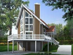 A Frame House Plans   The House Plan ShopA Frame House Plan  H