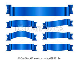 Blue Ribbon Design Blue Ribbon Banners Set Silk