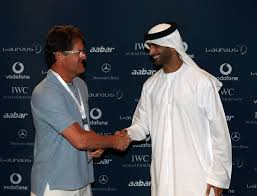 England team manager Fabio Capello greets His Excellency Mohammed Ibrahim Al Mahmood, the general secretary of the Abu Dhabi Sports Council during the Abu ... - Laureus%2BWorld%2BSports%2BAwards%2BPress%2BConferences%2BekDDsnKSfpyl