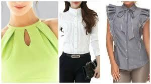 Beautifull <b>new</b> necklines neck <b>designs</b> for blouse & <b>tops</b> - YouTube