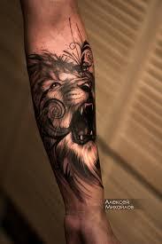 тату реализм лев эскиз индивидуальный Tattooed Tattoos Fashion