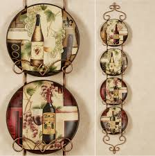 Decorative Kitchen Wall Plates Contemporary Wine And Grape Kitchen Decor Wine And Grape Kitchen
