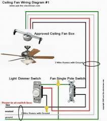 install and wire a ceiling fan ceiling fan wiring diagram 1