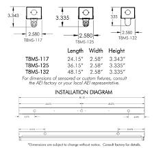 Fluorescent Light Fixture Sizes Aei Lighting T8 Fluorescent Industrial Lighting Fixtures