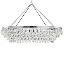 calypso 8 light crystal teardrop chrome chandelier view larger image