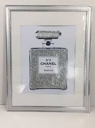 silver modern picture frames. Modern Silver Picture Frames 14×11 Framed Chanel No 5 Perfume Bottle  Glitter Crystals Pop Silver Modern Picture Frames